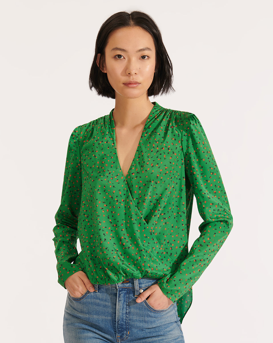 Saanvi Top - Green Multi
