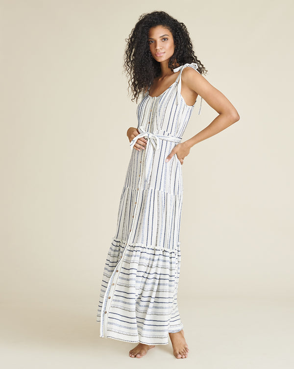 Michi Striped Cover-Up Dress - Blue Multi