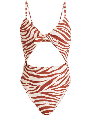 Aniston Cutout Swimsuit - Rust