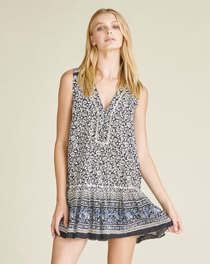 Leanna Cover-Up Dress - Black Multi