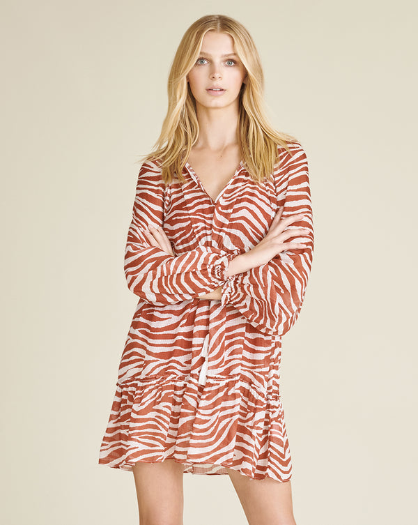 Danica Cover-Up Dress - Rust