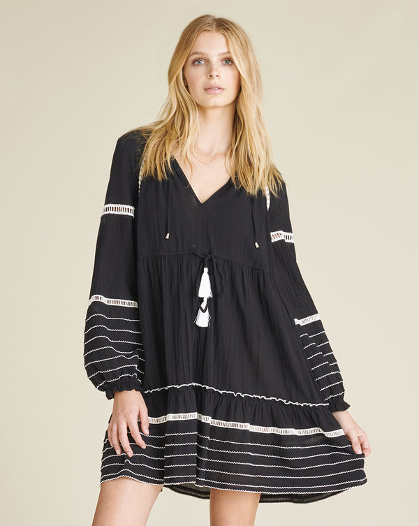 Danica Cover-Up Dress - Black