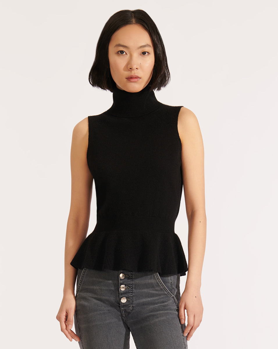 Noor Cashmere Turtleneck - Black