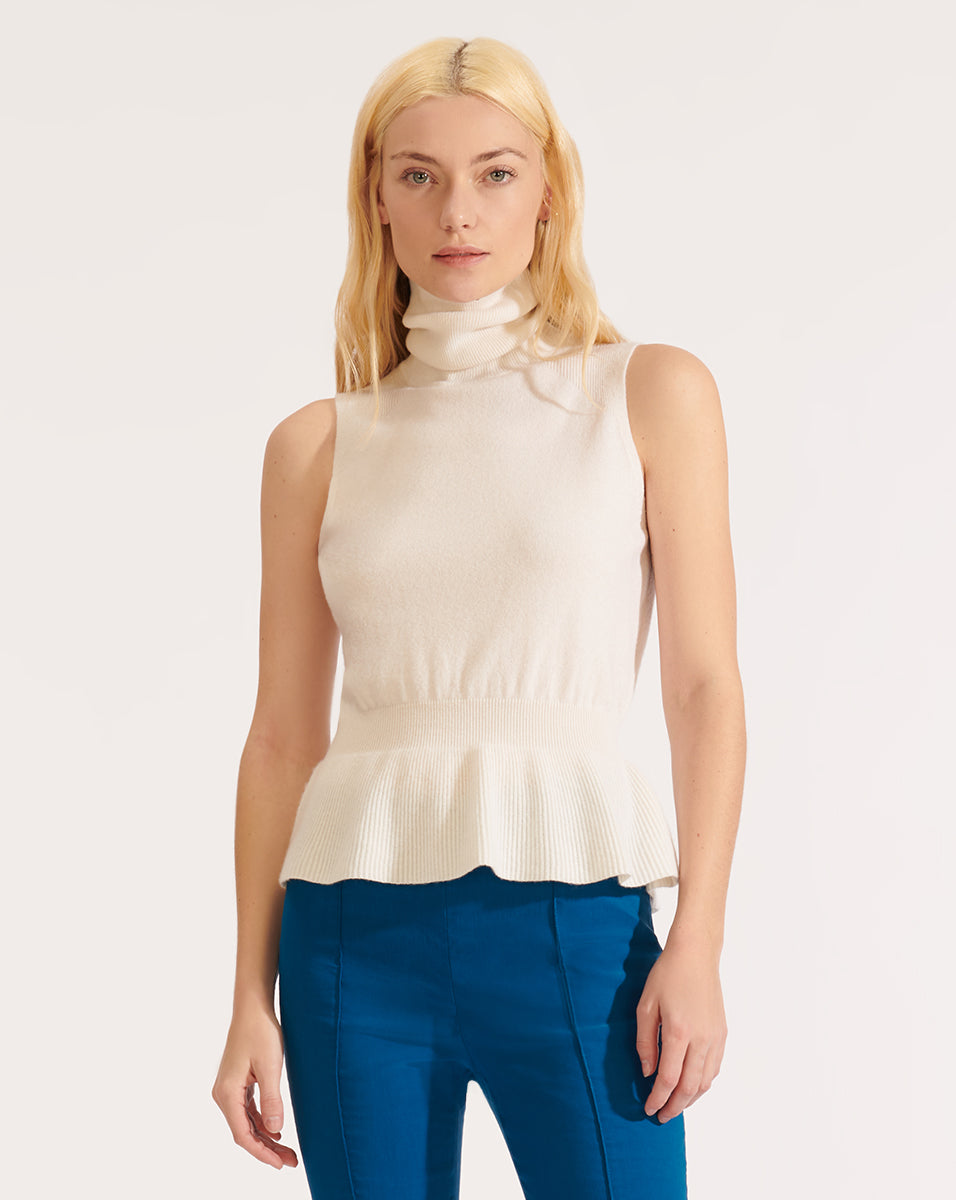 Noor Cashmere Turtleneck - White