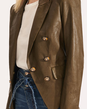 Cooke Leather Dickey Jacket - Olive