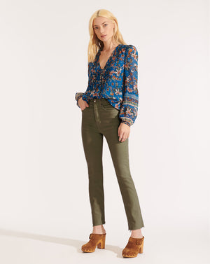 Lowell Floral Blouse - Cerulean Multi