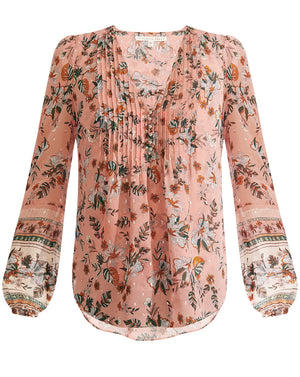 Lowell Blouse - Mauve Multi
