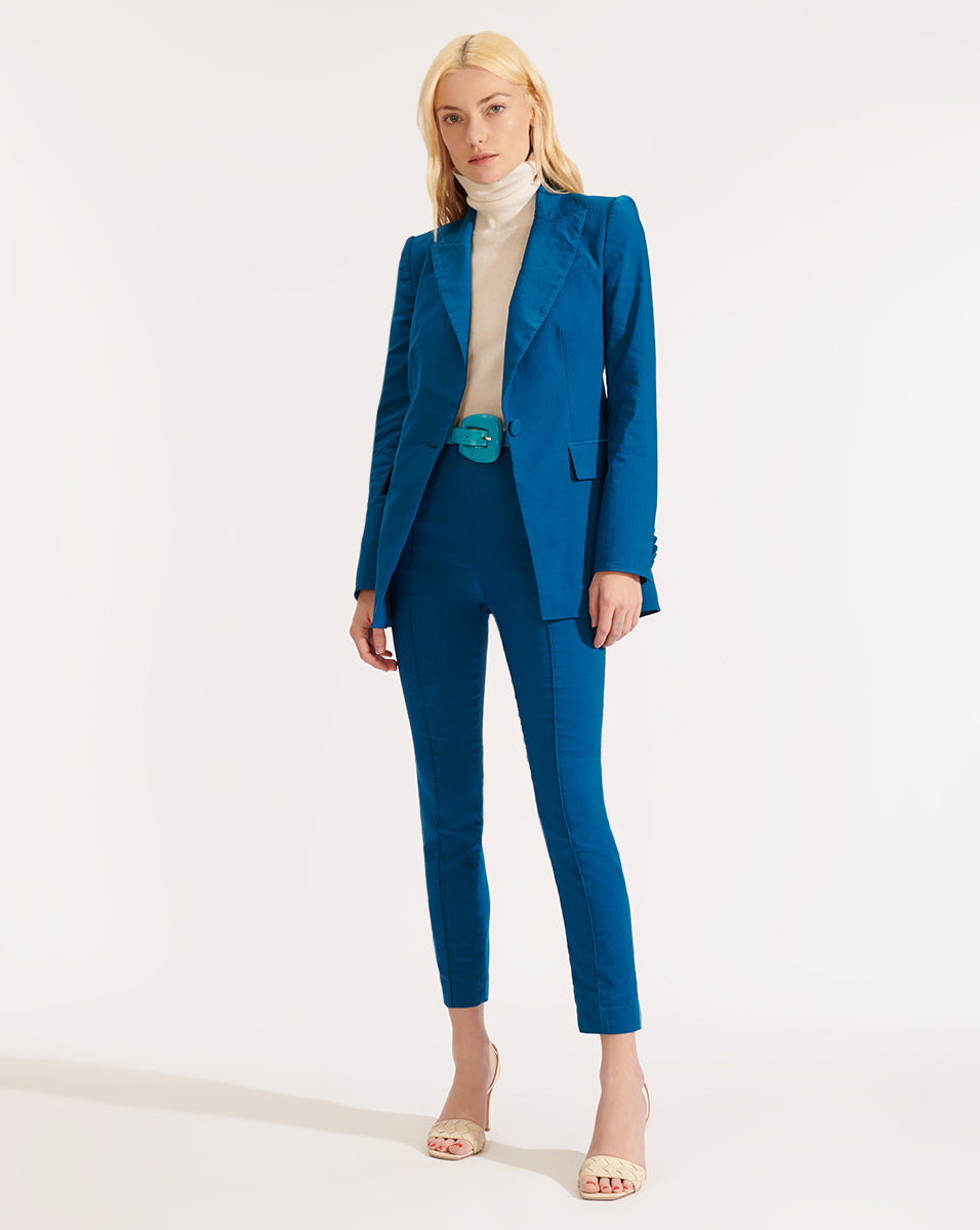 Long And Lean Dickey Jacket - Cerulean