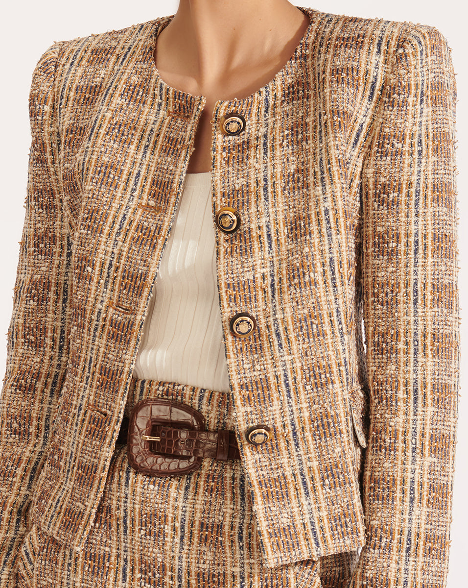 Louisa Dickey Jacket - Brown Multi
