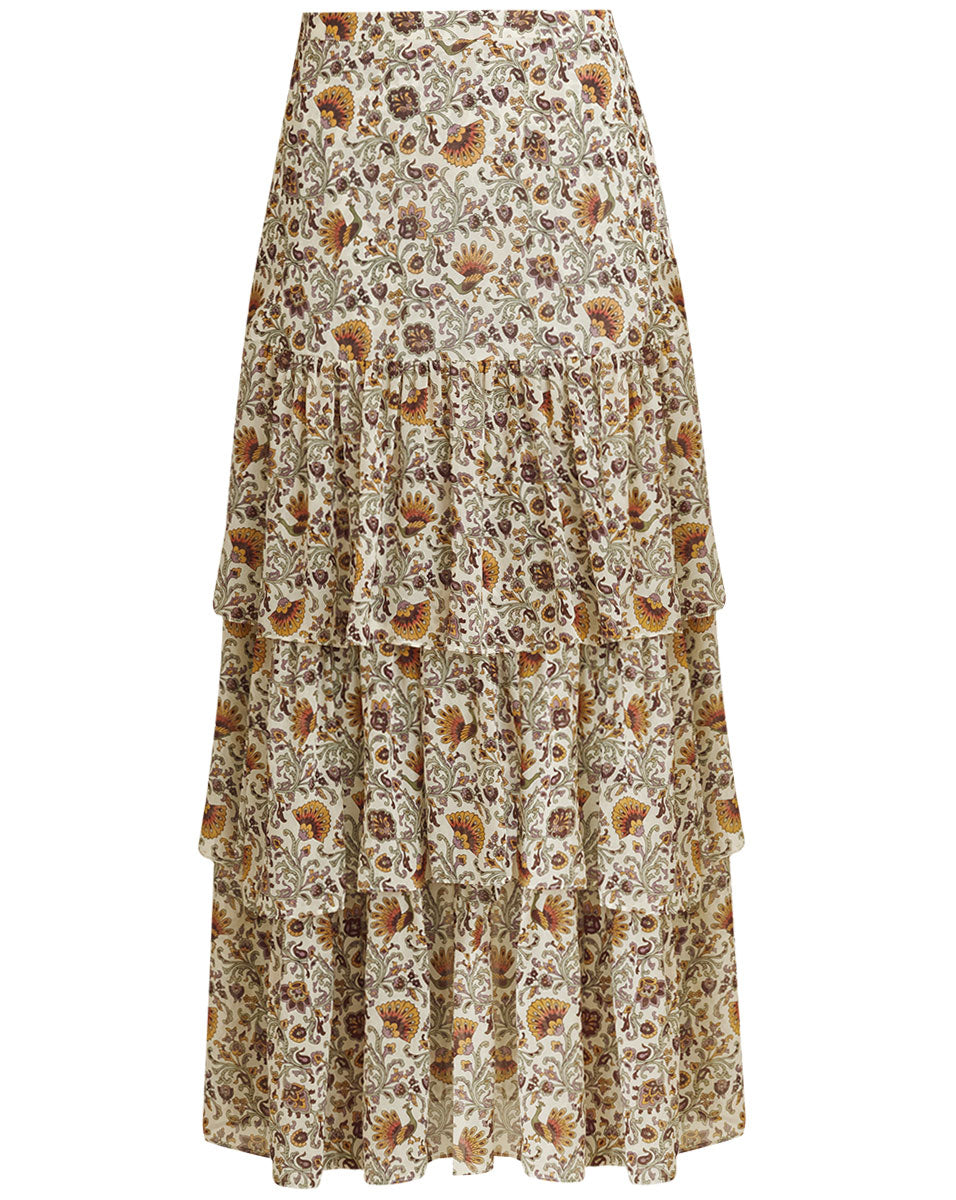 Shailene Skirt - Bone Multi