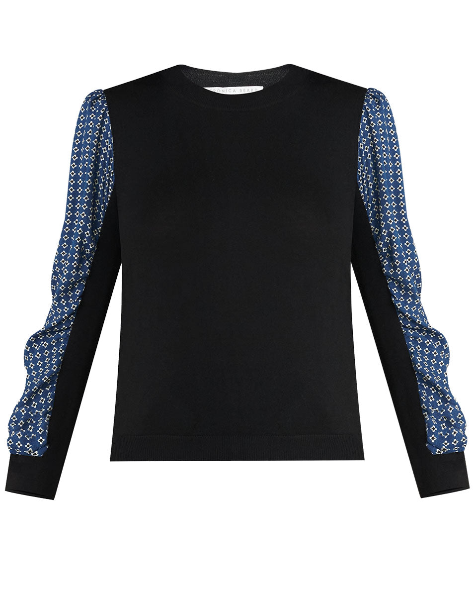 Adler Mixed Media Sweater - Black