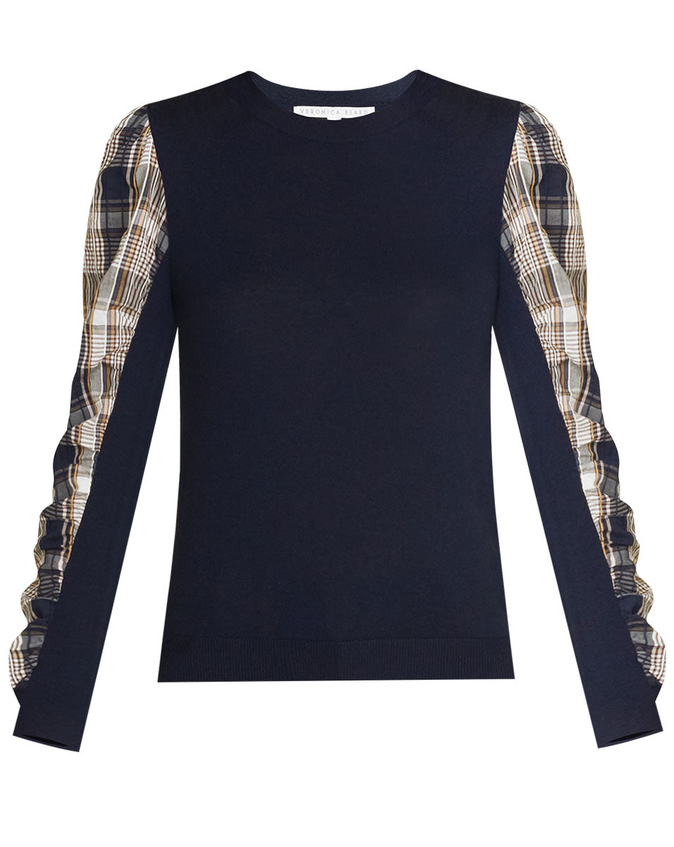 Adler Mixed Media Sweater - Navy
