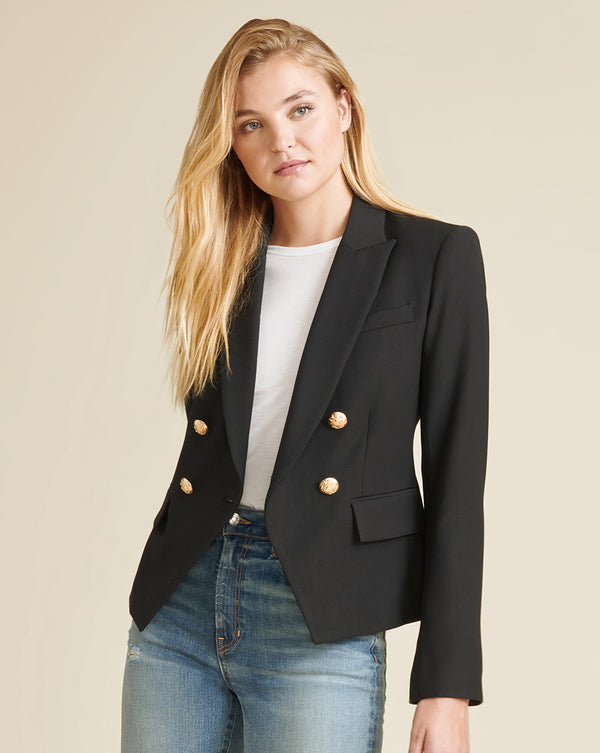 Gail Cropped Jacket - Black