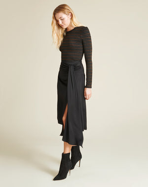 Parisa Wrap Skirt - Black