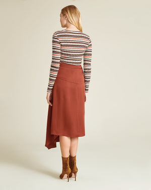 Parisa Wrap Skirt - Clay