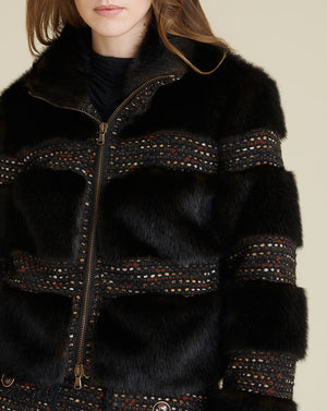 Fraya Faux Fur Coat - Brown