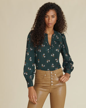 Abbie Top - Evergreen Multi