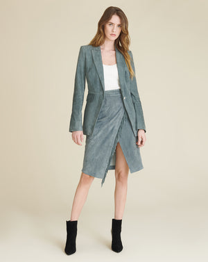 Long And Lean Dickey Jacket - Slate