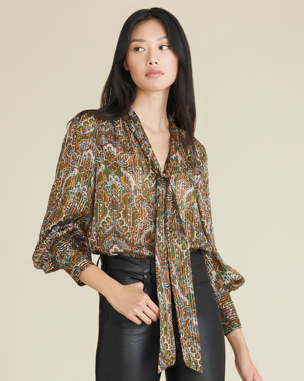 Zaylee Blouse - Green Multi
