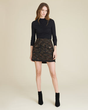 Margot Tweed Miniskirt - Earth