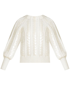 Yola Cable-Knit Pullover - Ivory