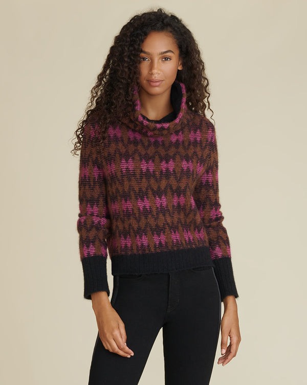Davis Zigzag Sweater - Pink Multi