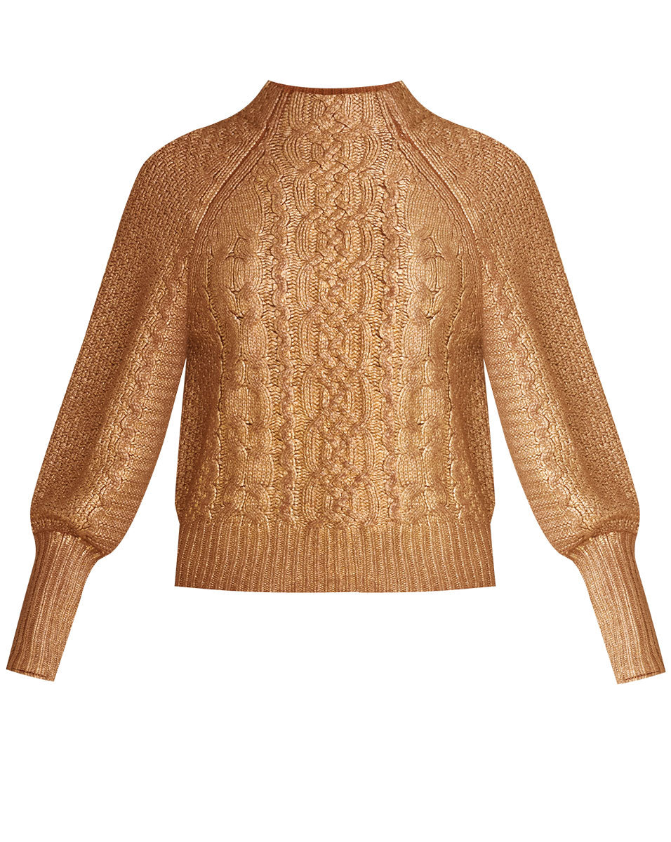 Yola Cable-Knit Pullover - Copper
