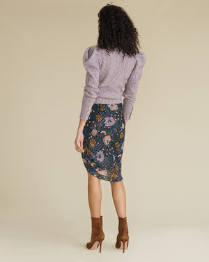 Hazel Floral Skirt - Black Multi