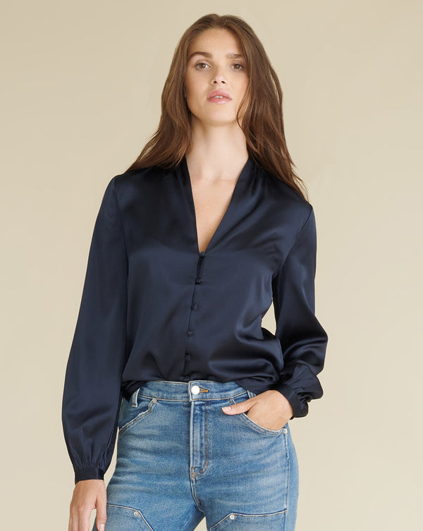 Beata Blouse - Navy