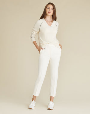 Renzo Slim-Leg Pant - Antique White