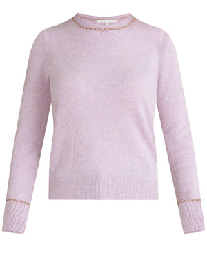Zalga C-Neck Cashmere Sweater - Lilac