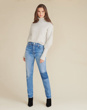 Rebi Sweater - Ivory/Grey