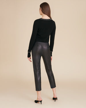 Sethe High-Rise Leather Pant - Black