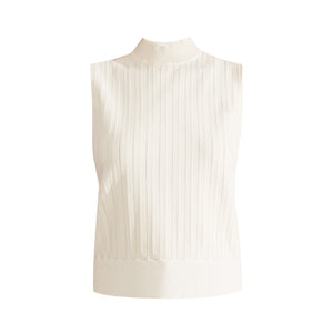 Collins Mock-Neck Shell - Ivory