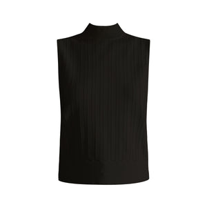 Collins Mock-Neck Shell - Black