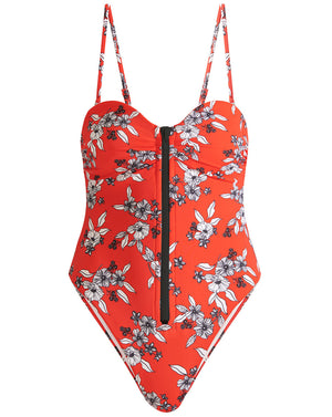 Mari Swimsuit - Red Multi