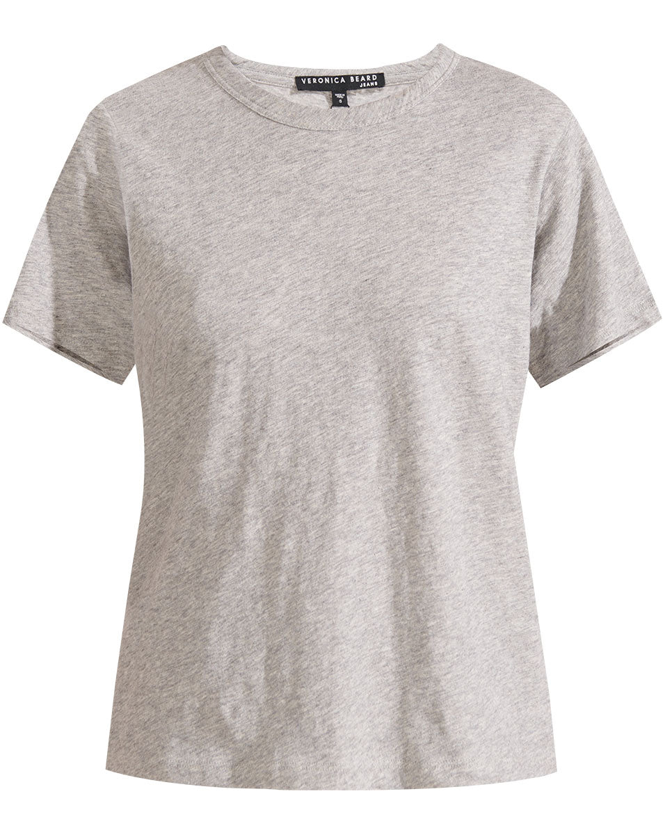 Lara Crew-Neck Tee - Heather Grey