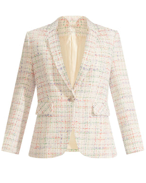 Cutaway Multi-Tweed Dickey Jacket - Multi
