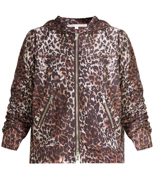 Sibila Leopard Anorak - Brown Multi