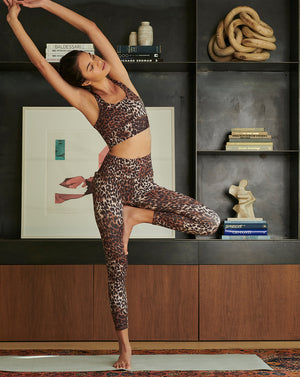 Vilena Leopard Legging - Brown Multi