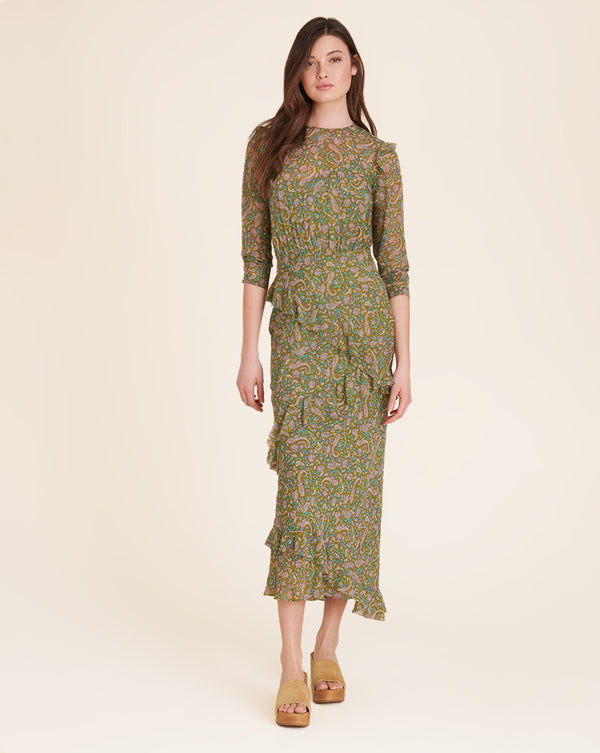 Tenise Paisley Maxi Dress - Fern Multi