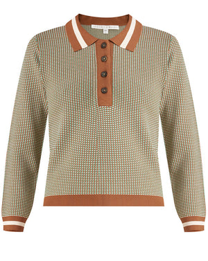 Hildy Geo-Knit Polo - Multi