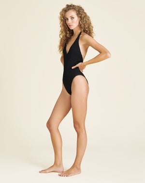 Salis Halter Swimsuit - Black