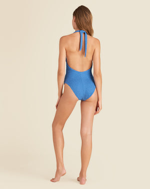 Salis Halter Swimsuit - French Blue