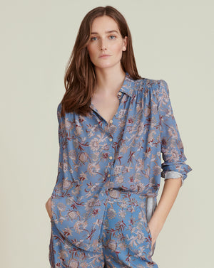 Dazed Pajama-Style Shirt - Cornflower