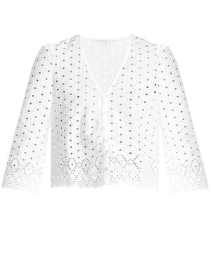 Suniva Eyelet Top - White