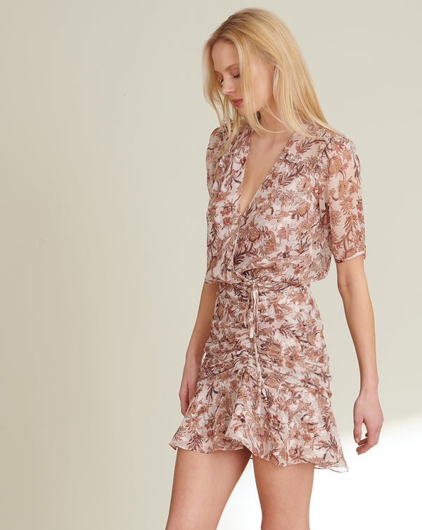 Dakota Floral-Print Minidress - Blush Multi