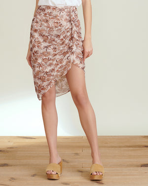 Hazel Floral-Print Skirt - Blush Multi