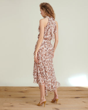 Kailey Floral-Print Midi Dress - Blush Multi