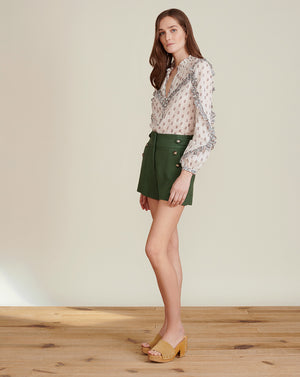 Pine Textured Sateen Short - Ivy